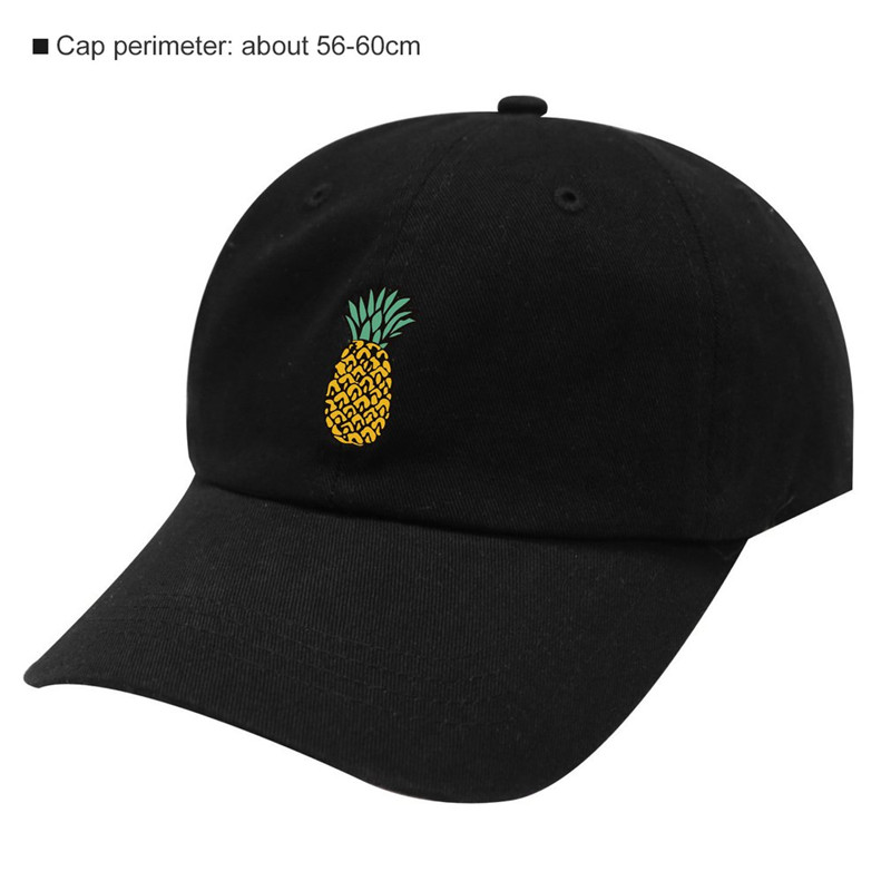 Spring Women's   Cap   Snapback 3D Pineapple Pattern Printed hat Men's Summer   Baseball     Caps   Hip Hop hats For Girls Casquette Homme