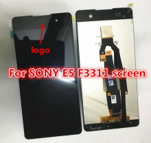 100% Original New For Sony Xperia E5 F3311 F3313 LCD Display Panel Touch Digitizer Glass Screen Assembly  Black White