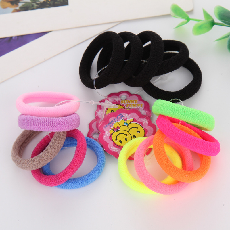 25pcs/bag 2018 New Fashion Child Baby Kids Ponytail Holders Hair Accessories For Girl Headwear Rubber Hair Band Tie Gum 30pcs candy fluorescence colored hair holders high rubber baby bands hair elastics accessories girl women tie gum and spring