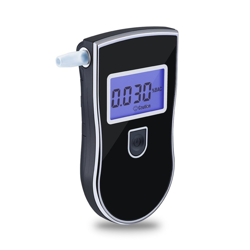 AT-818 Professional Police Digital Breath Alcohol Tester Breathalyzer Analyzer Detector Practical Dropshipping