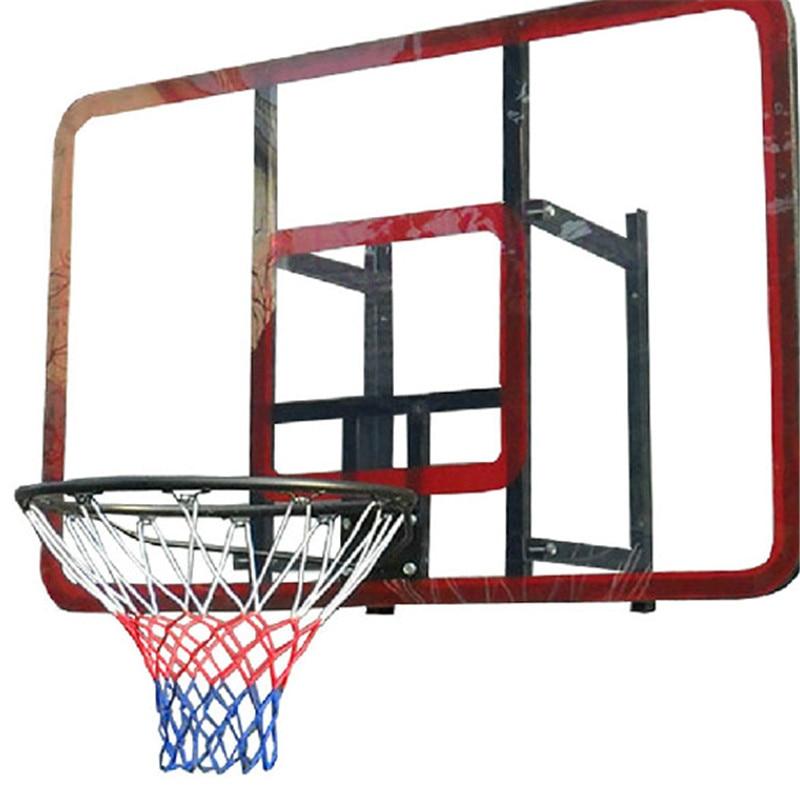 Outdoor Sports Basketball Net Standard Nylon Thread Basketball Hoop Mesh Net Backboard Rim Ball Pum 12 Loops