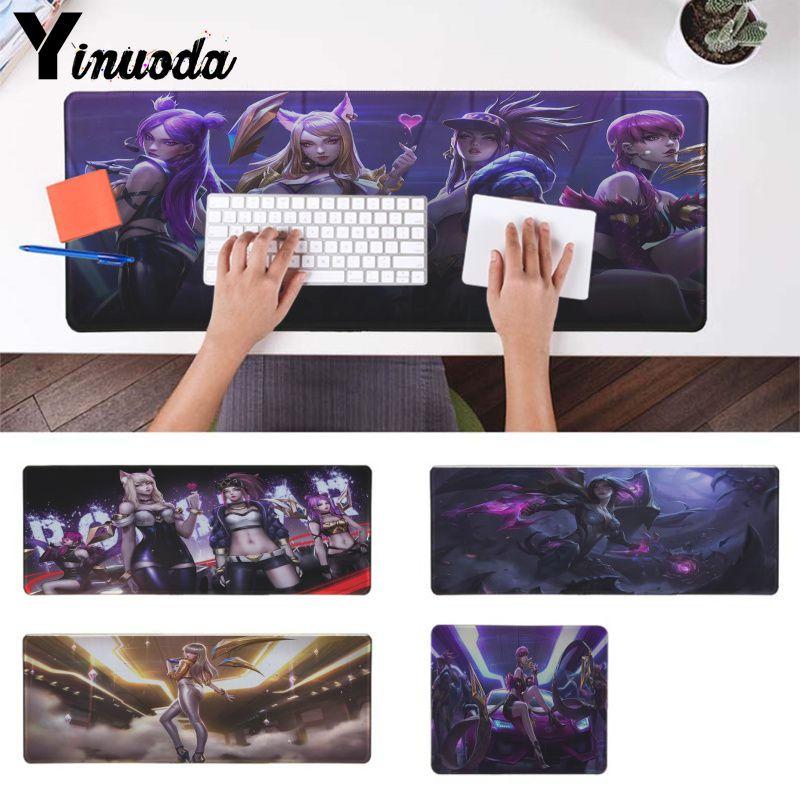 Yinuoda League of Legends' virtual girl band K DA KaiSa Mouse Durable Desktop Mousepad gaming Mousepad For PC Laptop Notebook