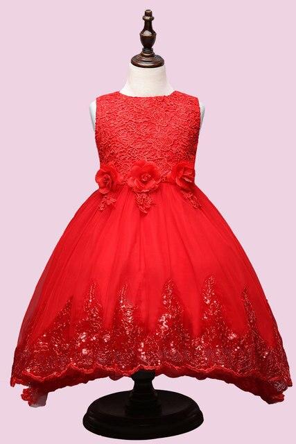 2017 высшее качество принцесса платье девушки красный симпатичные длинные платья свадебное платье девушки цветка платье infantil menina фантазия