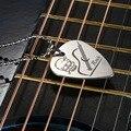 Picareta da guitarra Colar com 50 cm/20in Cor Prata Cadeia De Bola de Aço Inoxidável de Alta Qualidade Partes de Guitarra e Acessórios