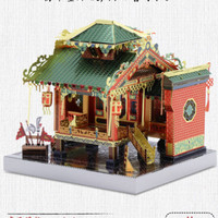 DIY China building metal assembled model puzzle architecture handmade toy creative gift model 4styles