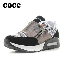 GOGC Women Sneakers Brand New Walking Sport Shoes for Women 2017 Fashion Breathable Mesh Patchwork Air Sneakers Female Footwear