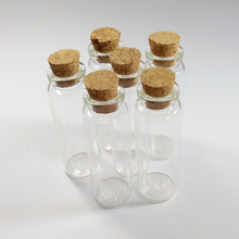 50pcs/lot 15ml glass vials 22*65mm Clear Wishing drifting bottle with cork Home Decoration jar Essential oil