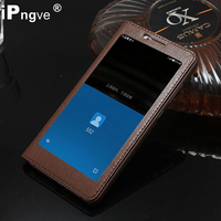 Luxury Genuine Leather Case Flip Cover Case For Letv LeEco Le Max 2 X820 Window View