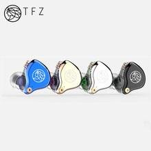 TFZ T2 Dynamic Driver Hybrid In-ear Earphones HIFI DJ Monitor Earbuds Earphones Detachable 2pin 0.78mm S2 AIR KING NO.3 T3 QUEEN