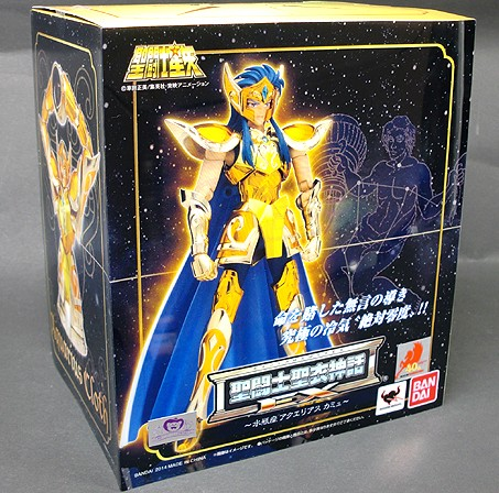 New Model toys <font><b>Saint</b></font> <font><b>Seiya</b></font> <font><b>Cloth</b></font> <font><b>Myth</b></font> Gold Ex 2.0 <font><b>Aquarius</b></font> Camus Action Figure toy Bandai collector image