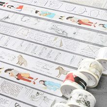 School Les Thema Washi Tape Masking Decoratieve Tapes DIY Scrapbooking Sticker Label Tape Japanse Briefpapier(China)