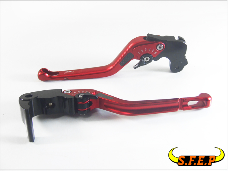 3D Long CNC Adjustable Motorcycle Brake and Clutch Levers with Carbon Fiber Inlay For Yamaha R6S EUROPE VERSION 2006-2007 6 colors cnc adjustable motorcycle brake clutch levers for yamaha yzf r6 yzfr6 1999 2004 2005 2016 2017 logo yzf r6 lever