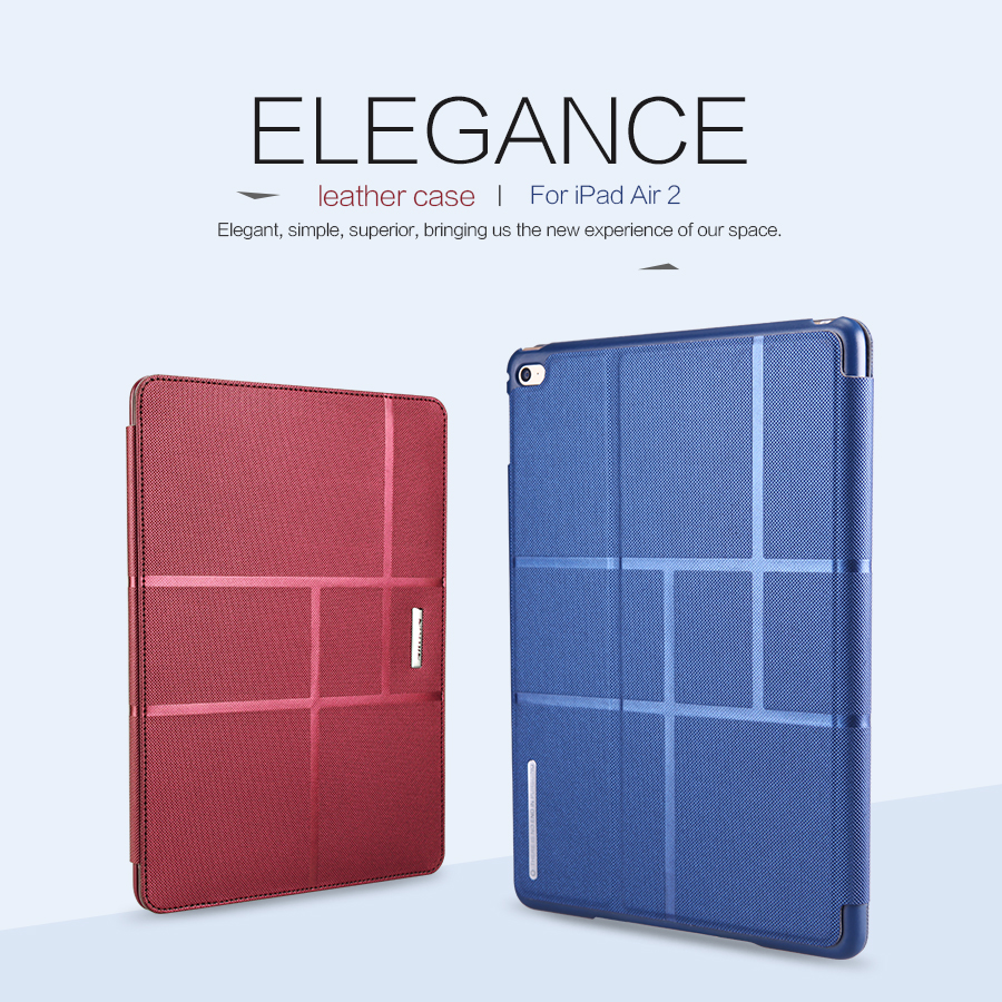 Case for Apple iPad Air 2,Nillkin Original Smart Leather Case Cover for Air2 Auto Sleep/Wake Up Magnetic Brand Protect Shells чехол для apple ipad air 2 smart case leather red