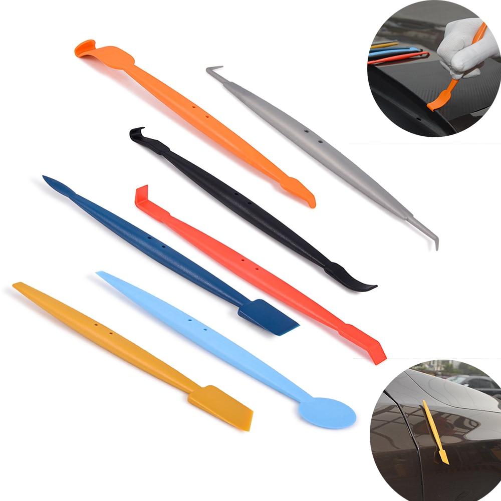 EHDIS 7 pièces Fenêtre Teinte Voiture D'emballage Feuille Magnétique Raclette Kit Vinyle Film Bord Wrap Scraper Aimant autocollant pour voiture Styling Outils