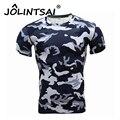 2017 Camisa de Estampado de Camuflaje Camisa de Crossfit Gimnasio Hombres Medias de Compresión Culturismo Ropa de Entrenamiento T-Shirt Tops Mujer Marca