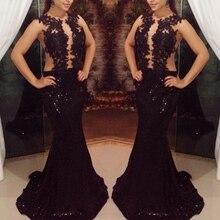 2016 heißer Verkauf mermaid O-ansatz Abendkleid Mit Spitze Mieder pailletten Tüll Foraml Evening Kleid Benutzerdefinierte vestido de festa gala jurken