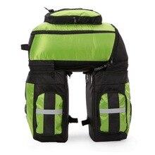 купить Bicycle Basket 70L Cycling Bicycle Bag Bike Double Side Rear Rack Tail Seat Trunk Bag Pannier with Rain Cover  по цене 3394.28 рублей