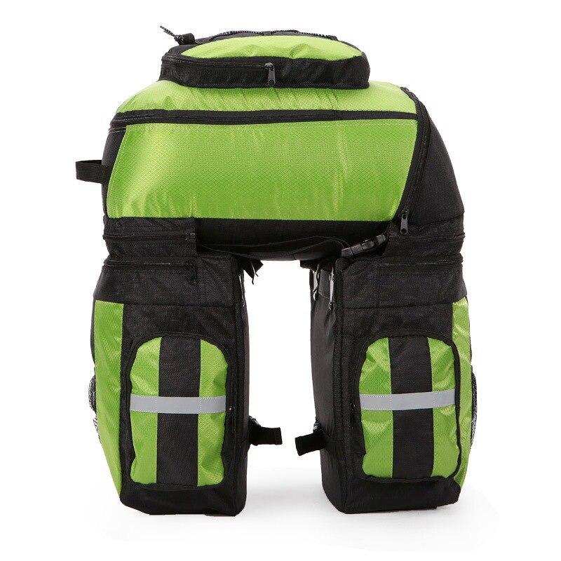 Panier de vélo 70L vélo sac de vélo vélo Double côté arrière Rack queue siège coffre sac sacoche avec couverture de pluie