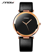 SINOBI Fashion Women Wrist Watches Leather Watchband Top Luxury Brand Female Dress Quartz Clock Ladies Wristwatch Montres Femmes