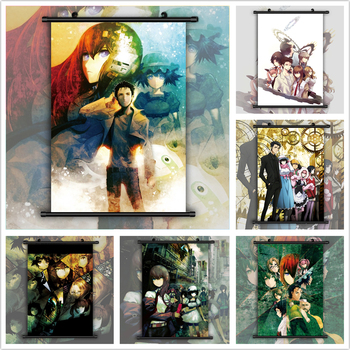 Steins Gate Makise Kurisu Christina Shiina Mayuri Anime manga wall Poster Scroll A image