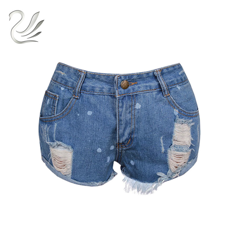 2018 Fashion Ripped Hole Shorts jeans woman Short jeans