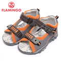 FLAMINGO 2016 new arrival summer kids shoes fashion high quality 100% genuine leather children sandals for boy XS5851