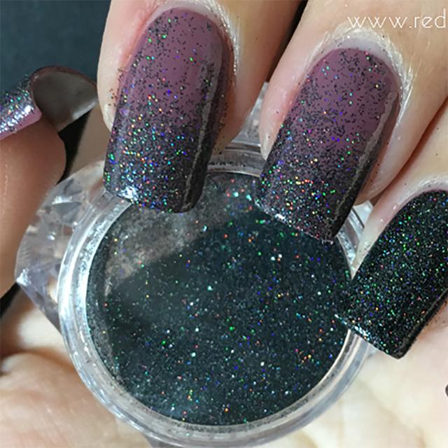 1 Box Colorful Nail Glitter Powder