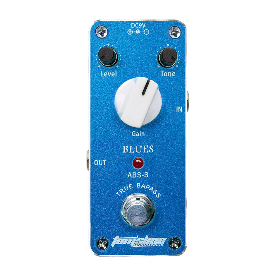 Aroma ABS-3 Aluminum Alloy Mini Analogue Blues Electric Distortion Guitar Effect Pedal Housing True Bypass aroma adl 1 aluminum alloy housing true bypass delay electric guitar effect pedal for guitarists hot guitar accessories