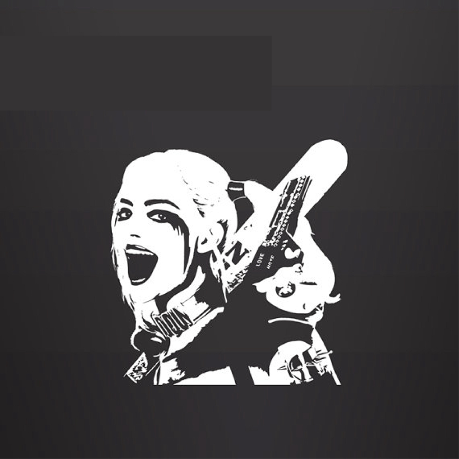 Harley Quinn Vinyl Wall Decal Sticker Suicide Squad Car Laptop Animation Film Decal Sticker