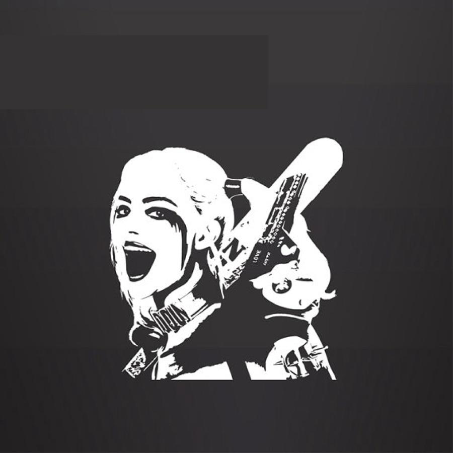 Bike stickers design joker - Harley Quinn Vinyl Wall Decal Sticker Suicide Squad Car Laptop Animation Film Decal Sticker China
