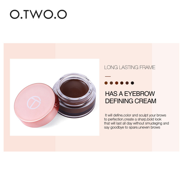 O.TWO.O Eyebrow Gel 6 Colors 3D Natural Brown Eye Brow Shade Make Up Profesional Long Lasting Brow Paint Cosmetics With Brush 3