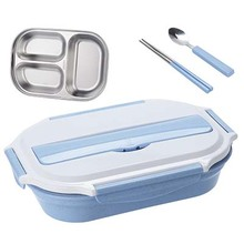 HS040 Fashionlunch box food container 304 stainless steel 3 grids box 27*20*6cm
