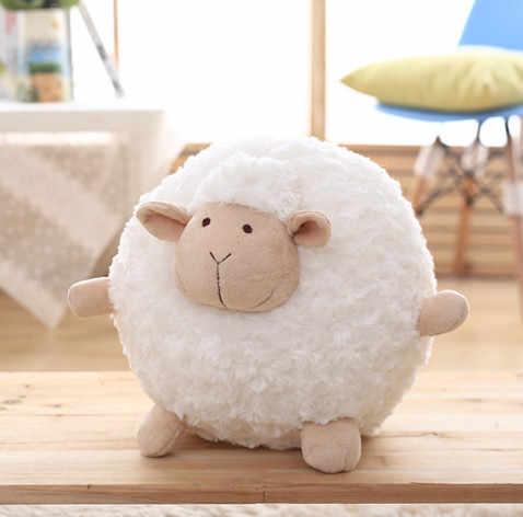 Piękny miękki pluszowy gruby owca zabawkowa piłka śpiąca owca poduszka dla lalki poduszka przyjaciel prezent urodzinowy dla niej kreskówka owca jagnięca lalka pluszowa