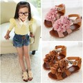 Free shipping top selling 2014 Children Girls angel Summer Petals Gladiator Shoes Princess Shoes Sandals F074
