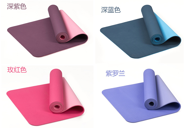 yoga mats tpe fitness tapete thick comfortable nonslip gym fitness body building esterilla pilates