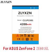 C11P1501  4200mAh Battery For ASUS ZenFone 2 ZenFone2 Laser Selfie ZE601KL ZE550KL ZD551KL ZE551KL чехлы накладки для телефонов кпк asus zenfone2 zenfone2 ze550ml ze551ml