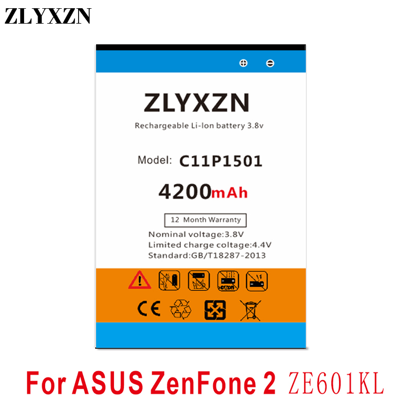 C11P1501 4200mAh Battery For ASUS ZenFone 2 ZenFone2 Laser Selfie ZE601KL ZE550KL ZD551KL ZE551KL