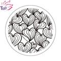 Diseño Del Corazón Del amor Sello de Imagen de Impresión Polaco Nail Art Stamping Plantilla Plantillas Para Las Uñas de Manicura de Acero Inoxidable JH235