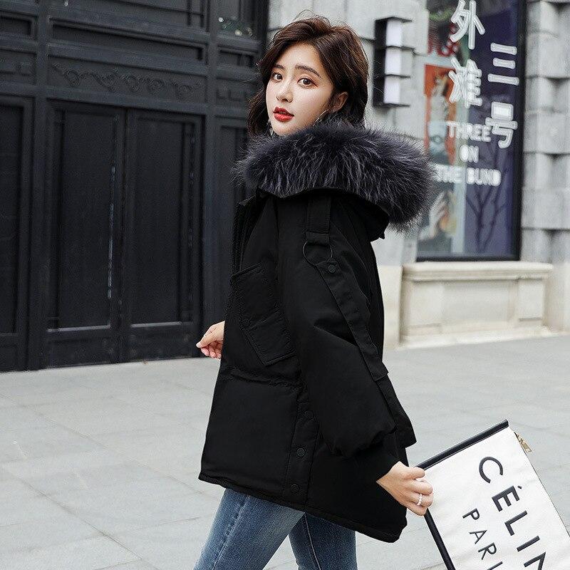 Grand Beige De Un À Est Et Coréenne Fourrure Avec Épais 2018 noir Nouvelle Pour vers Très Bas Court Mode Taille Femmes Col Lâche Le La Veste TAfHqann