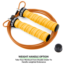 High Speed Jump Rope Professional Adjustable Skipping With Portable Bag Skip Anti-Slip Handle For Double Under Orange