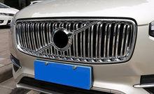 Chromed Front Radiator Grille Honeycomb Trim 2pcs For Volvo XC90 2015-2018