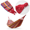 VILEAD 2 Color Available Portable Cotton Rope Outdoor Swing Fabric Camping Hanging Hammock Canvas Bed Free Shipping