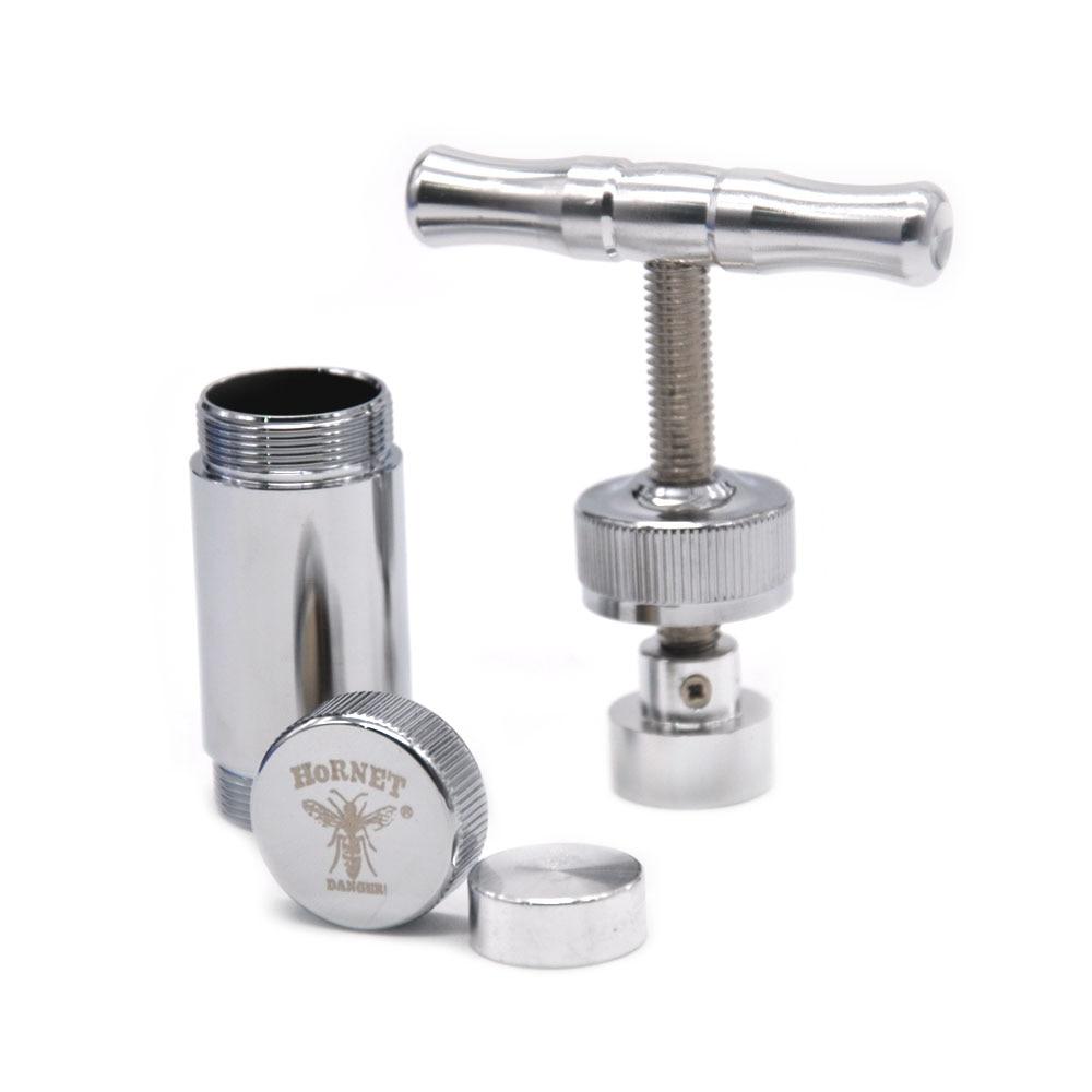 [HORNET] 1x Metall Aluminium Pollen Presser Kompressor Drücken grinder Tabak Spice Grinder Crusher zubehör