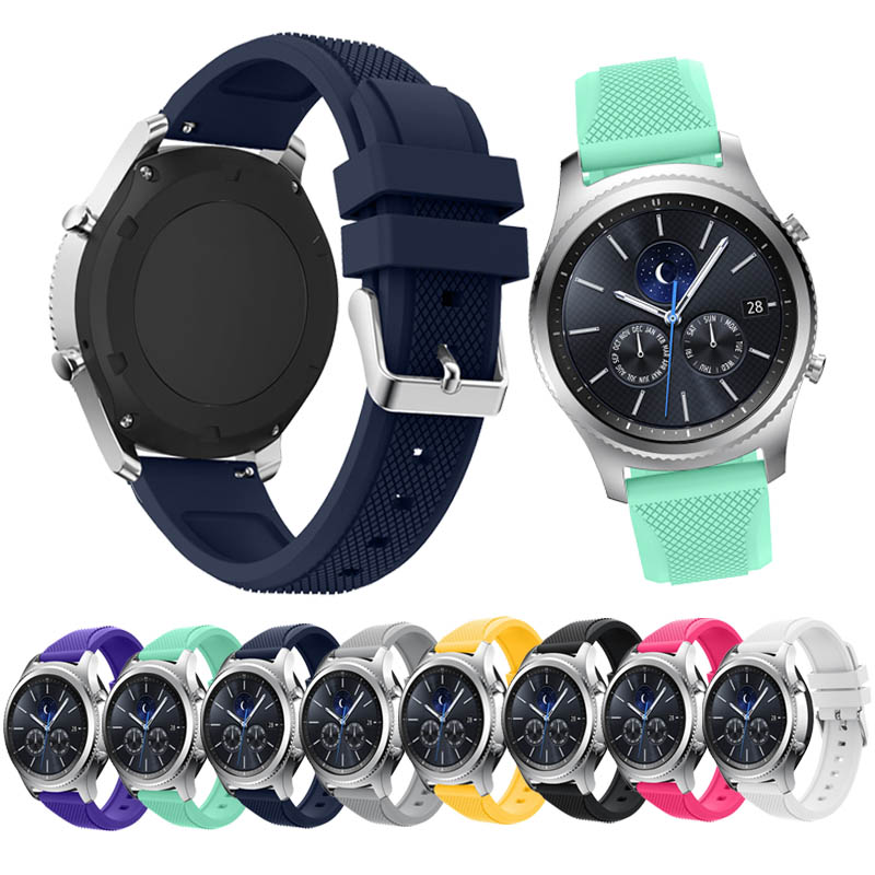 8 Colors New Fashion Sports Silicone Bracelet Watch Strap Band For Samsung Gear S3 Classic  22mm smart watch watchband m3 m4 m5 steel head screws bolts nuts hex socket head cap and nuts assortment button head allen bolts hexagon socket screws kit