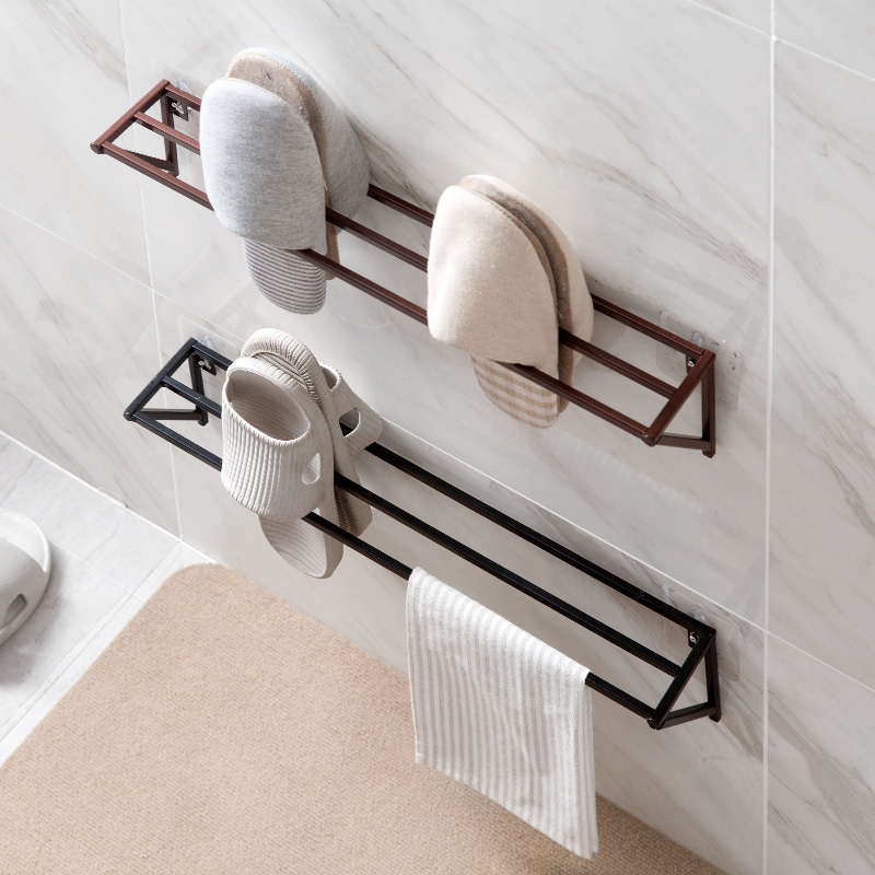 Гладить стеллаж для хранения обуви балкон бесшовные прослеживаемости тапочки вешалка для ванной Экономия пространства обуви стойки удар-Б...