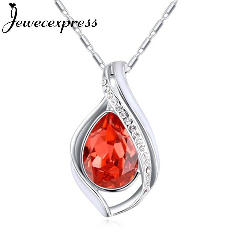 Jewecexpress Store Jewecexpress Colorful dew Crystal Pendant Necklace