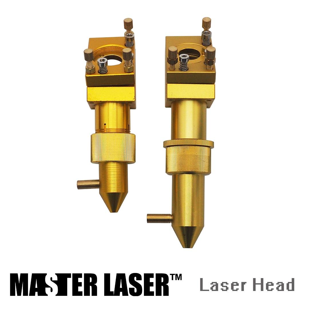 MASTER LASER CO2 Gold Laser Head for Focus Lens Dia 18mm FL.50.8 mm Mirror 19/20mm Mount for Laser Engraving Cutting Machine glass lens for flashlights 18mm 10 pack
