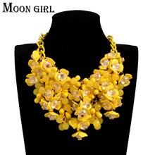 Flower Choker Necklace Boho Jewelry Big-Statement Women Accessories Fashion for Display