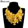 Maxi boemia flor gargantilha colar 2016 Novo sping moda boho jóias exibir acessórios Grande colar de declaração para as mulheres