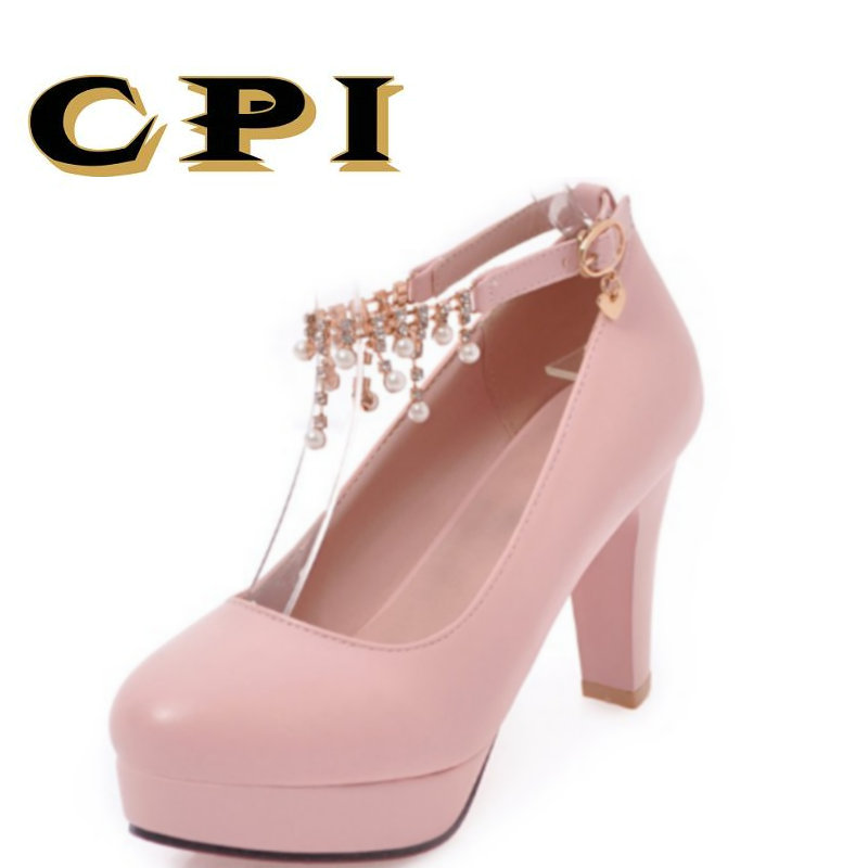 CPI 2018 New  spring and autumn women shoes fashion high-heel square heel Business  Party shoes Comfortable zapatos mujer MM-038 2016 spring and summer free shipping red new fashion design shoes african women print rt 3